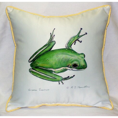 Garden Treefrog Indoor/Outdoor Throw Pillow