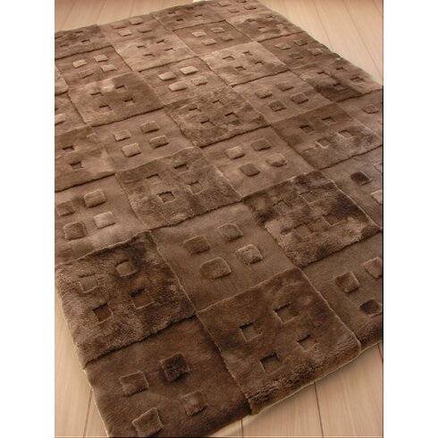 Shortwool Design Hand-Woven Brown Area Rug