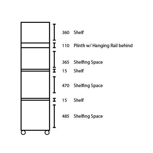 Sevada 1 Door Wardrobe