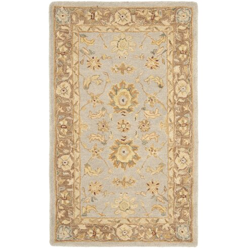 Anatolia Hand-Tufted Teal/Brown Area Rug