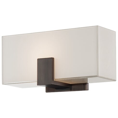 1-Light Wall Sconce with Square Shades