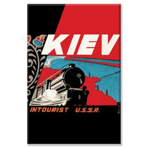 Kiev - Intourist U.S.S.R. by Vladimir Nemukhin Vintage Advertisement on Wrapped Canvas
