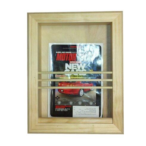 Bevel Frame Recessed Magazine Rack