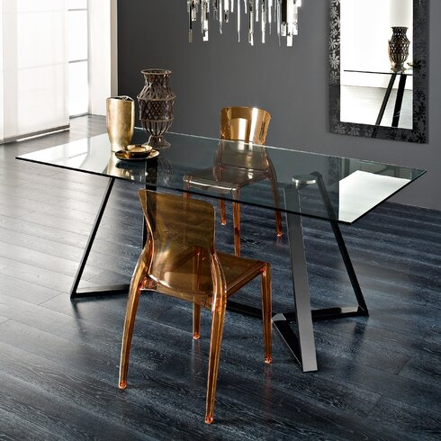 Archie Rectangular Table with Crystal Chairs