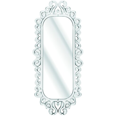 The Solitaire Carved Floral Mirror