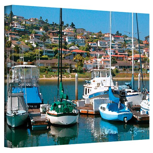 ''Point Loma SD'' by George Zucconi Painting Print on Canvas