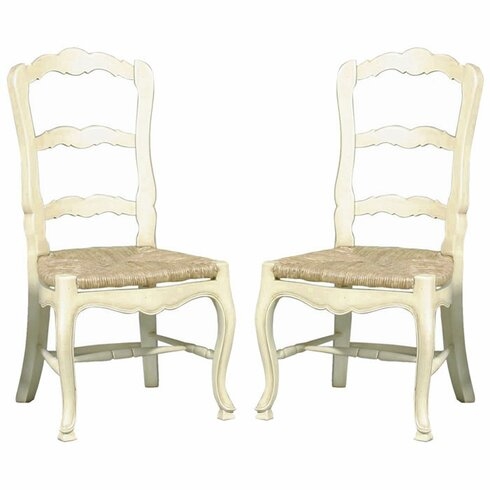 French Country Ladderback Side Chairs Country French Ladderback