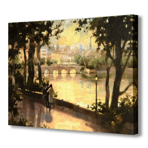 Bridge Over the River Art Print Wrapped on Canvas