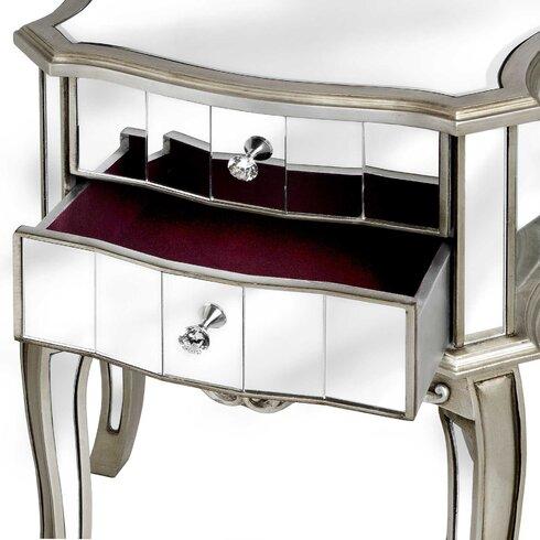 Argente 2 Drawer Bedside Table