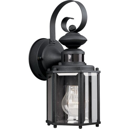 Motion Sensor 1-Light Outdoor Wall Lantern