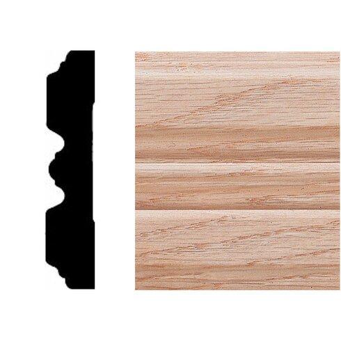 3/4 in. x 3-1/4 in. x 7 ft. Oak Fluted Casing Moulding