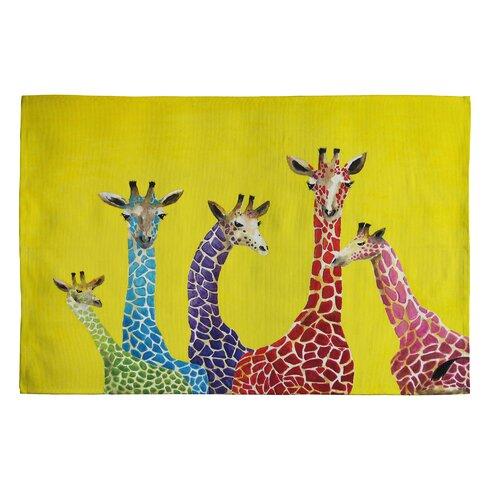 Clara Nilles Jellybean Giraffes Area Rug