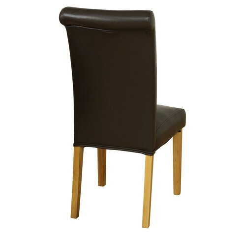 Solid Oak Upholstered Dining Chair
