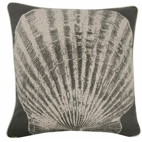 "Scallop 18"" Linen Throw Pillow"