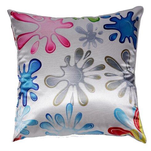 Fun Splat Accent Throw Pillow