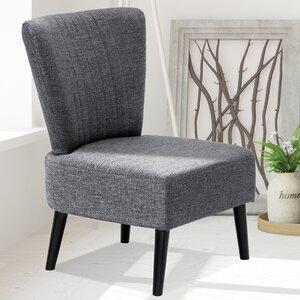 Veras Modern Fabric Slipper Chair by Varick Gallery