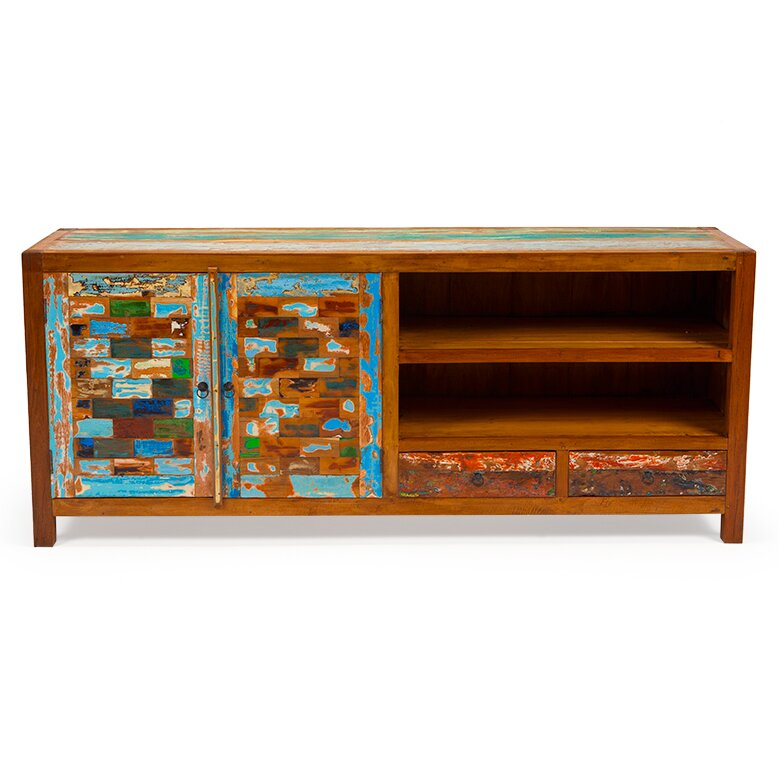Reel Deal Reclaimed Wood TV Stand - EcoChic Lifestyles Reel Deal Reclaimed Wood TV Stand Wayfair