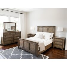 Justin Weathered Oak Panel 5 Piece Bedroom Set by Laurel Foundry Modern Farmhouse