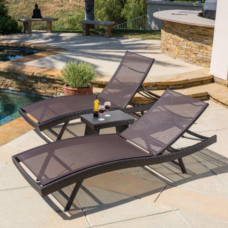 default name. Home Loft Concepts Halulu 3 Piece Chaise Lounge Set   Reviews