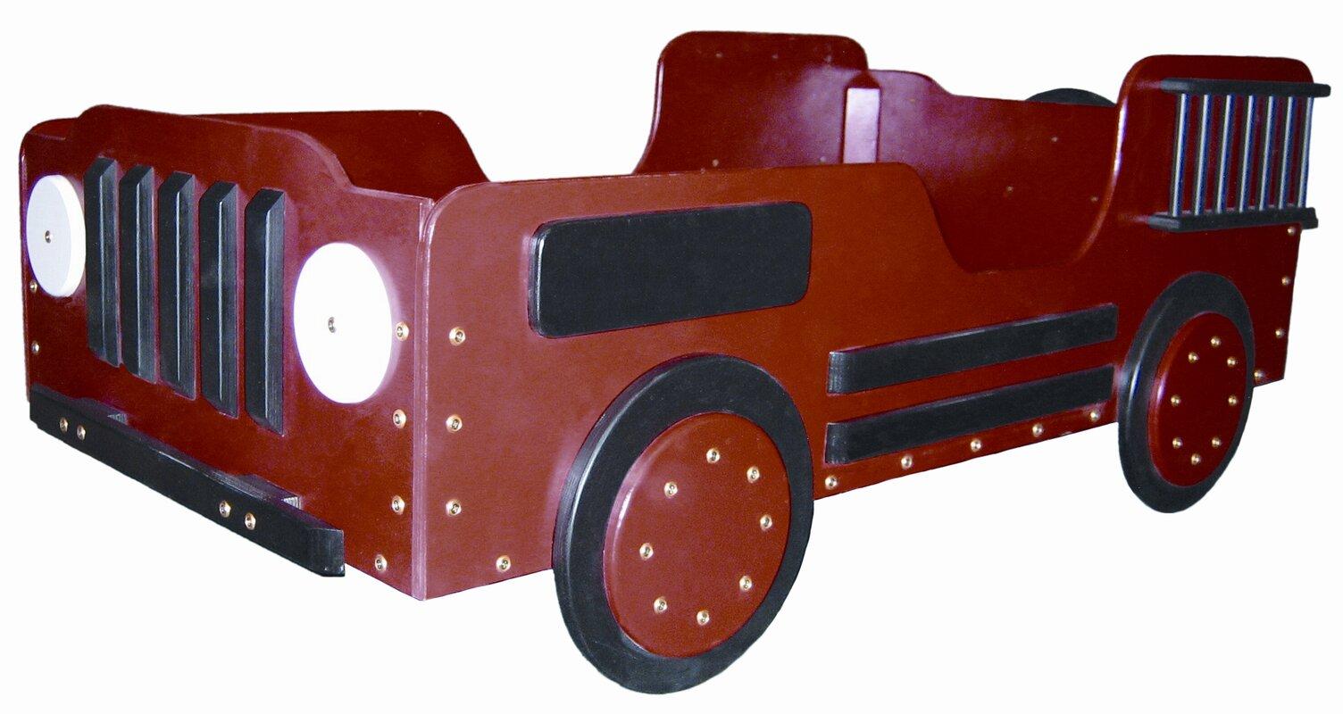 Just Kids Stuff Fire Truck Toddler Car Bed & Reviews | Wayfair