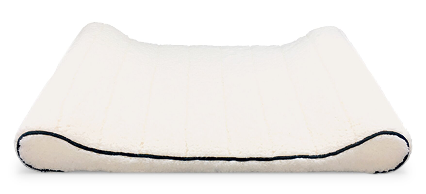 precioustails sherpa top memory foam orthopedic contoured lounger