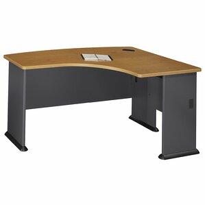 series a right bow corner desk shell