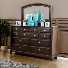 Daleville 10 Drawer Dresser with Mirror by Darby Home Co