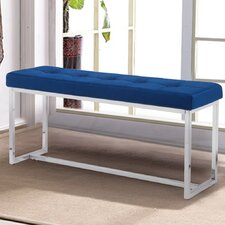 Angelena Metal Entryway Bench by Everly Quinn