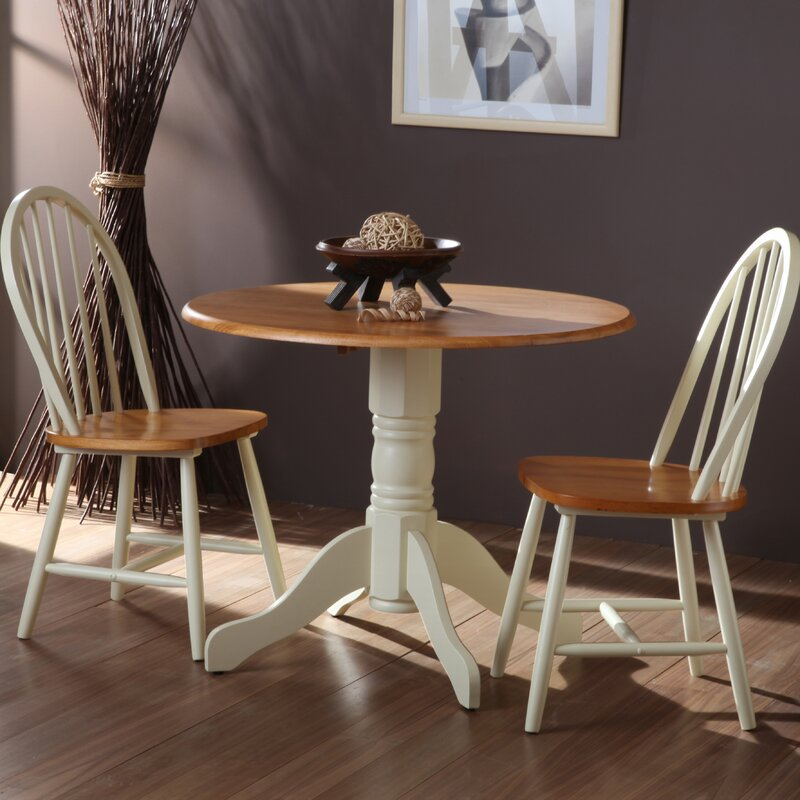 Three Posts Bramble Hill Extendable Dining Set with 2 Chairs