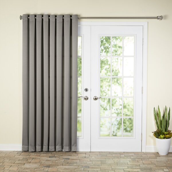 Wayfair Basics™ Wayfair Basics Solid Room Darkening Grommet Extra Wide Patio  Door Curtain Panel U0026 Reviews | Wayfair