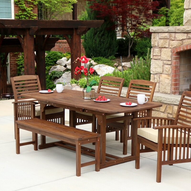 red barrel studio last frontier 6 piece dining set with cushion