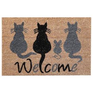 Cats Welcome Doormat