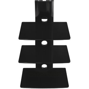 3 Shelf TV Component Wall Mount Shelving Bracket by Cheetah Mounts