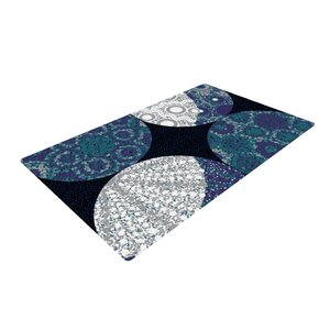 Laura Nicholson Moons Blue/Gray Area Rug