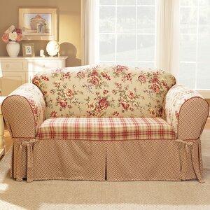 Remarkable Sure Fit Lexington Box Cushion Loveseat Slipcover Merpap Short Links Chair Design For Home Short Linksinfo