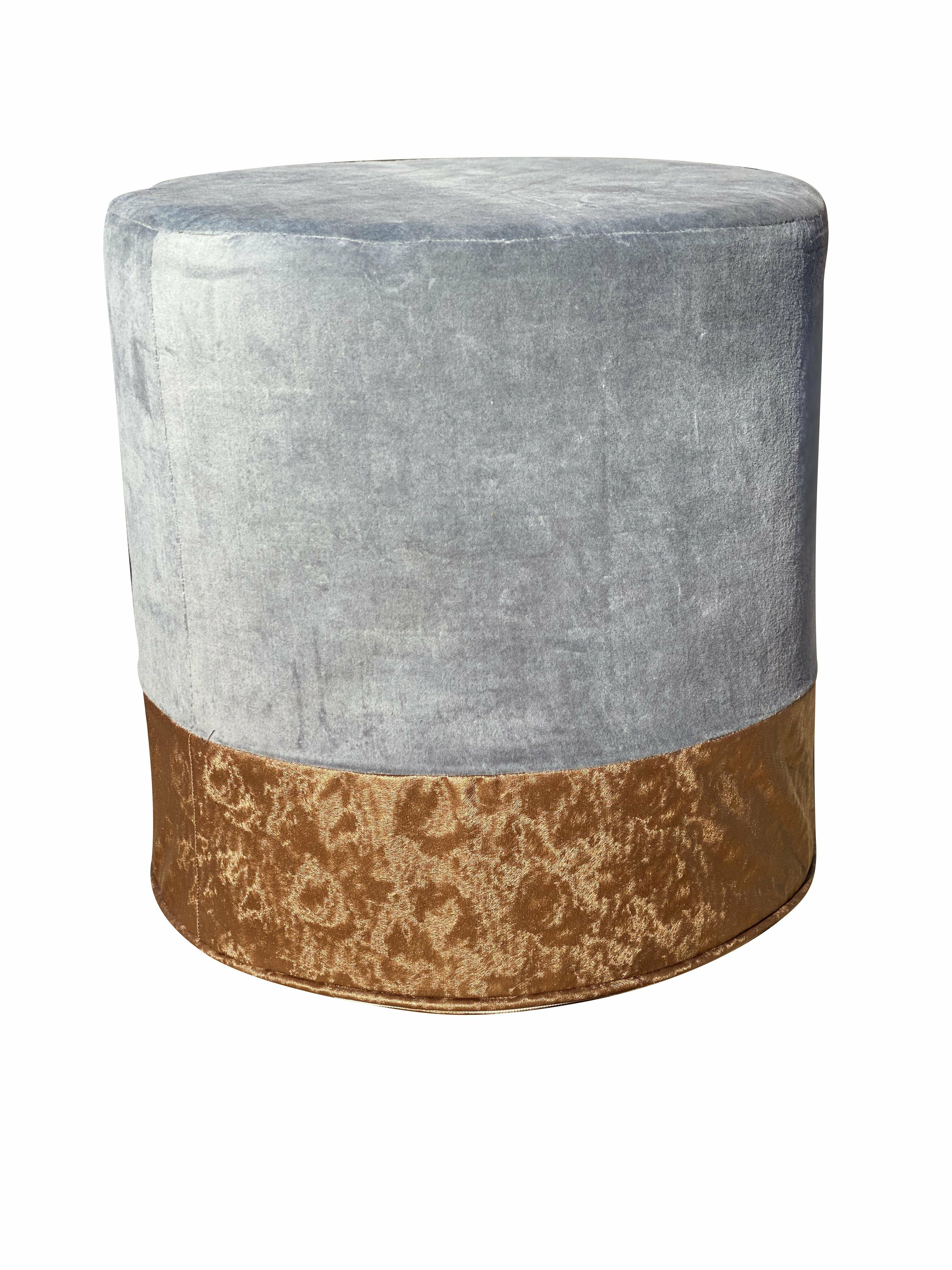 everly quinn cloran 18 round pouf ottoman w