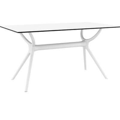 Curnutt Rectangular 29.5 Inch Table by Mercury Row Cool