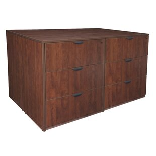 Linh Stand Up 2 Lateral File and Storage Cabinet and Desk Quad by Latitude Run