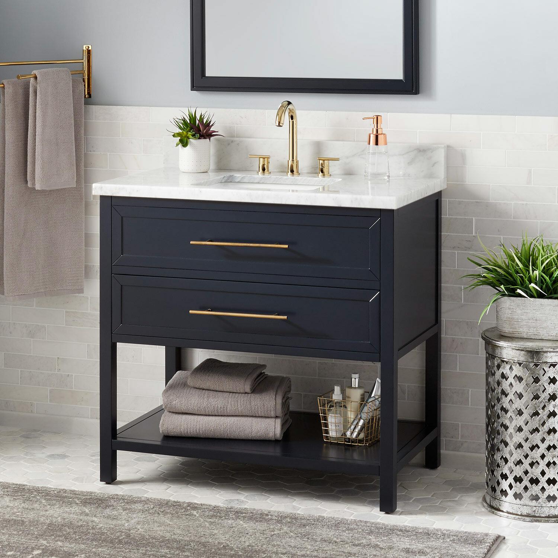 Signature Hardware Robertson 37 Single Bathroom Vanity Set Reviews Wayfair