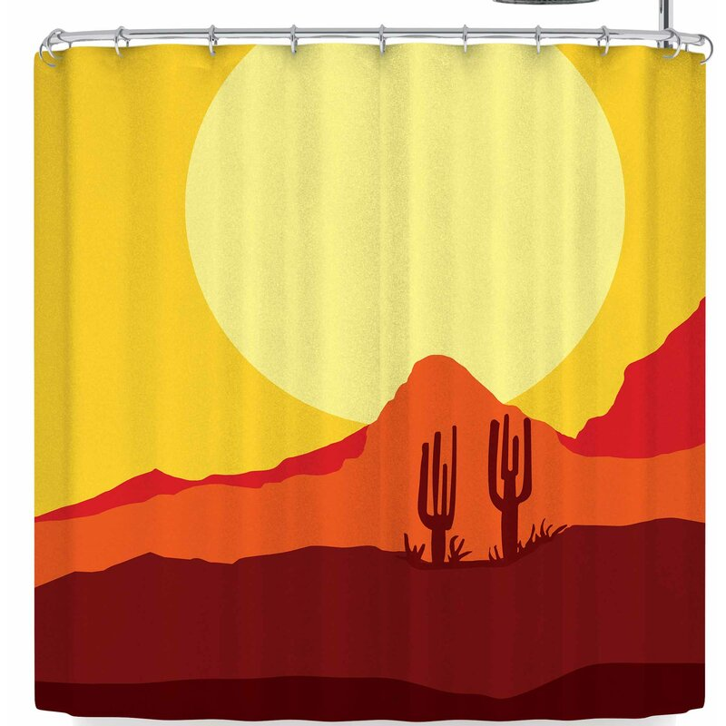Bruce Stanfield Mojave Desert Single Shower Curtain