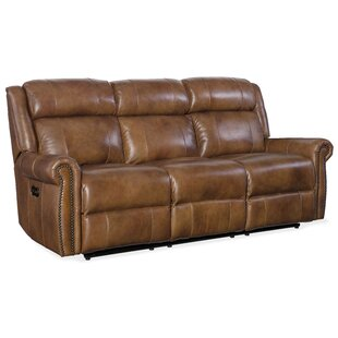 Esme Leather Reclining Sofa by..
