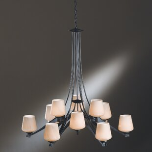 Hubbardton Forge Ribbon 12-Light Shaded Chandelier