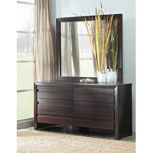 Aries 6 Drawer Dresser with Mirror by Mistana