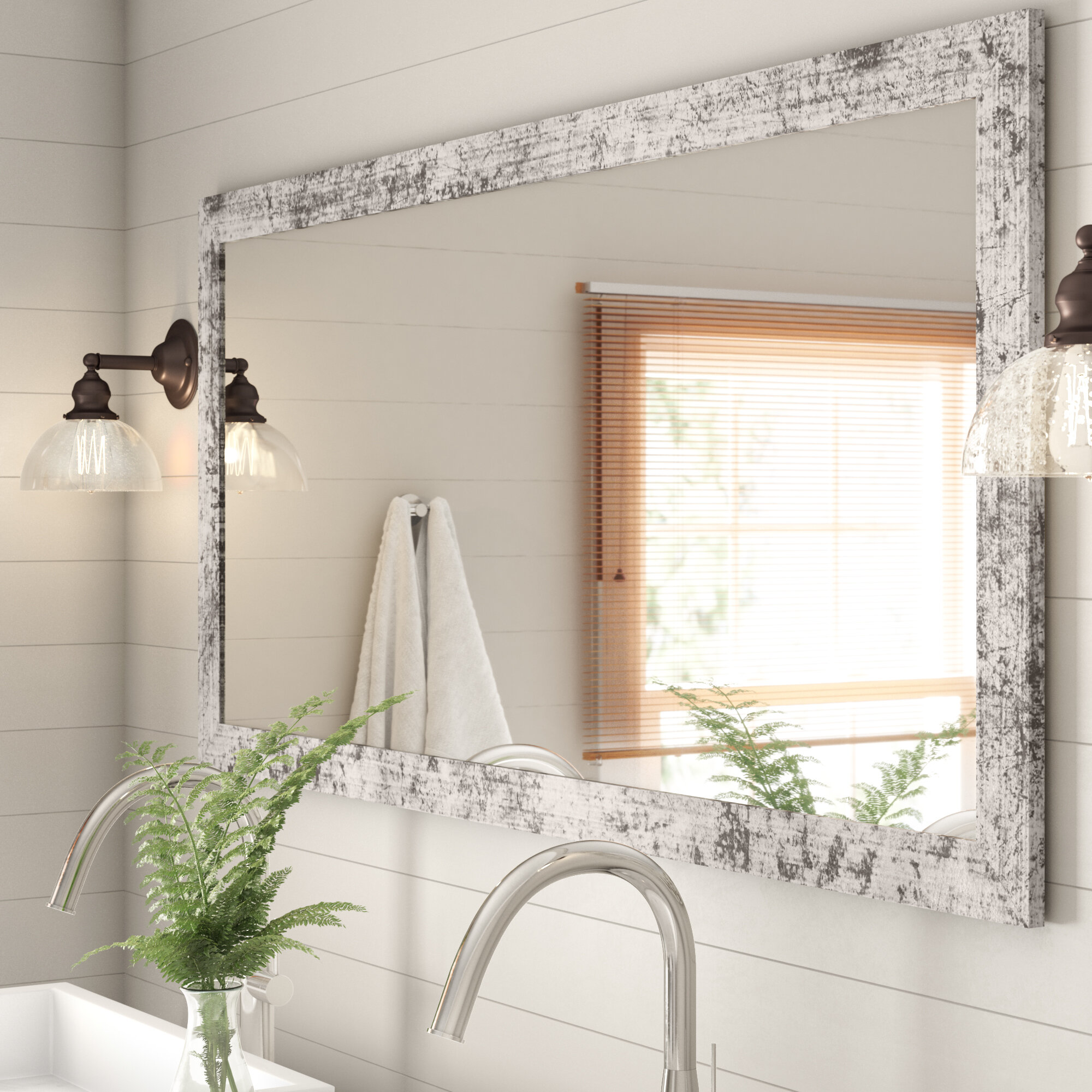 Gracie Oaks Pevensey Rustic Bathroom Vanity Mirror Reviews Wayfair