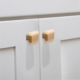 Frosted Timber Cabinet Square Knob (Set of 8)