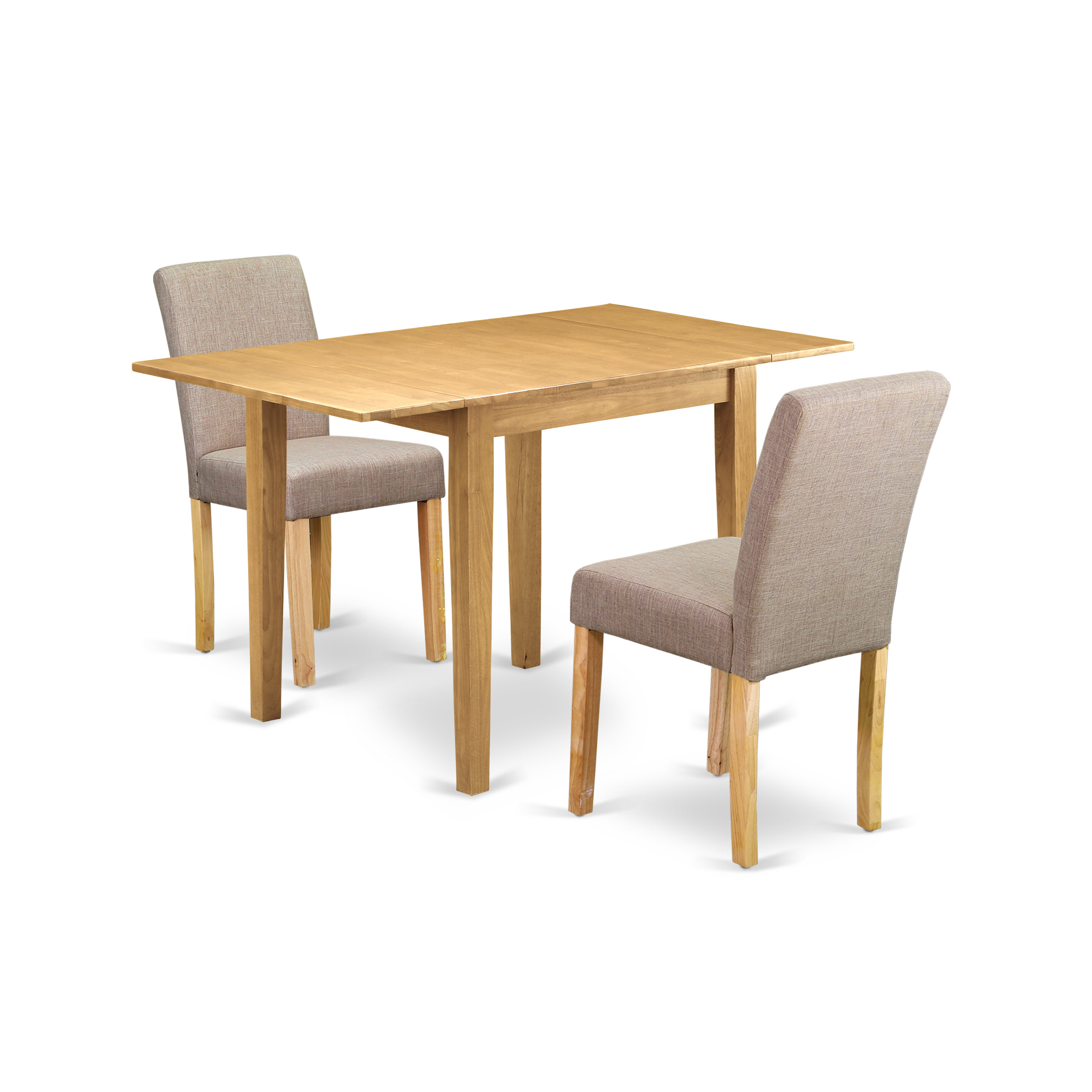 Picture of: Winston Porter Modern Dining Table Set 3 Pc Two Parson Chairs And A Dining Room Table Mahogany Finish Wood Coffee Colour Linen Fabric Reviews Wayfair Ca