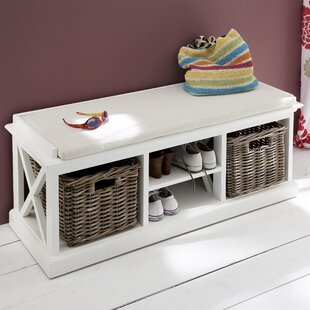 Breakwater Bay Fairmead Wood Storage Bench