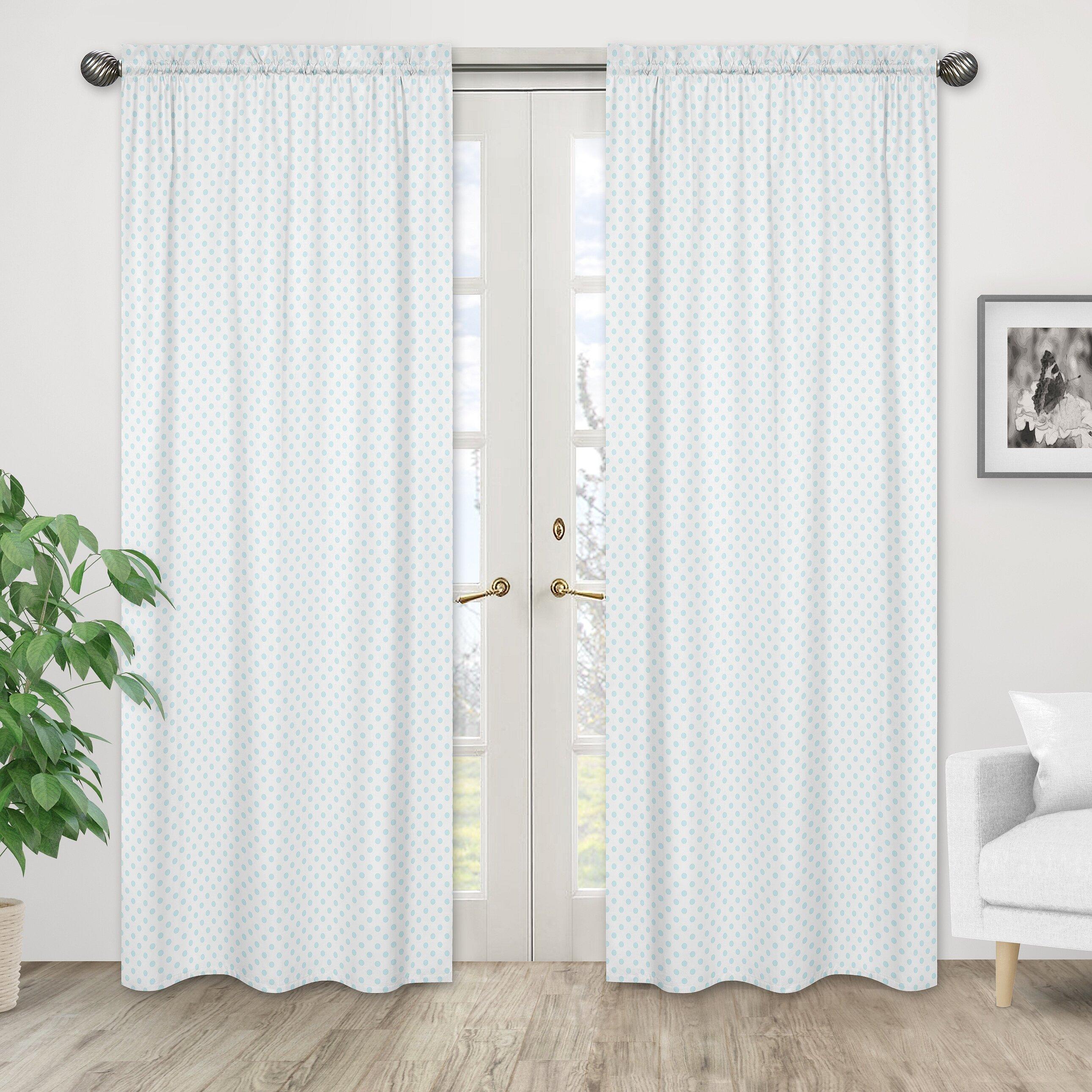 Sweet Jojo Designs Watercolors Polka Dots Semi Sheer Rod Pocket Curtain Panels Wayfair