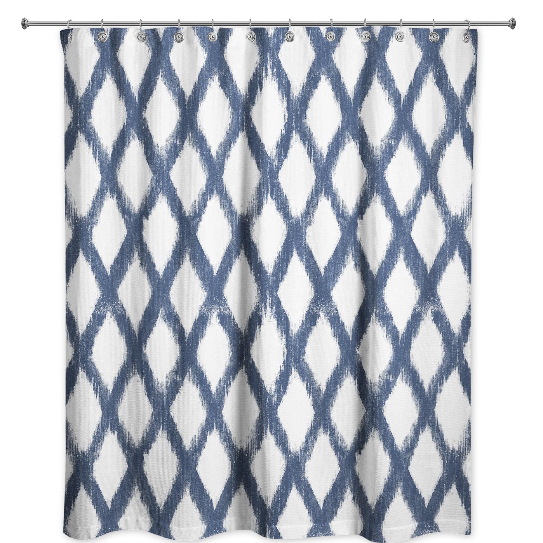 Bungalow Rose Mandar Abstract Single Shower Curtain Wayfair