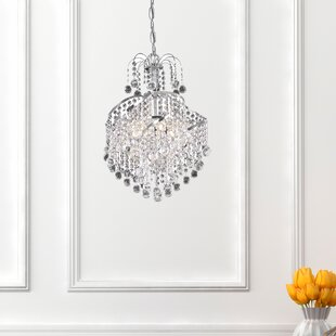 Living District Avery 3-Light Crystal Chandelier